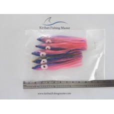 Squid Skirt Lure - 3.5 inch - Blue pink - 5 pack