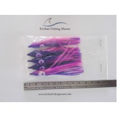 Squid Skirt Lure - 3.5 inch - Blue purple - 5 pack