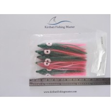 Squid Skirt Lure - 3 inch - Black pink - 5 pack