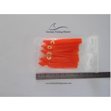 Squid Skirt Lure - 3 inch - Orange - 5 pack