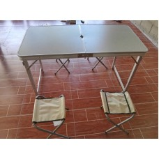 Folding Table Set with 4 Chairs